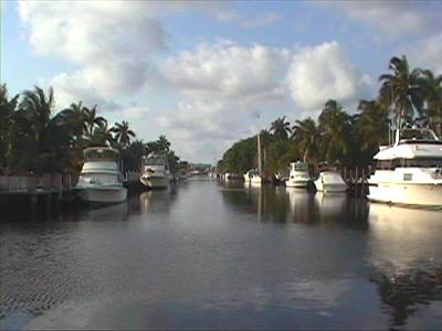 Canal system, Fort Lauderdale, Florida